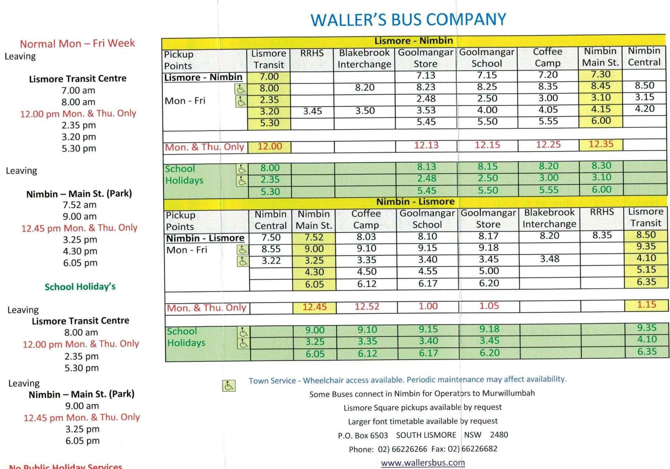 Bus Stop Timetables